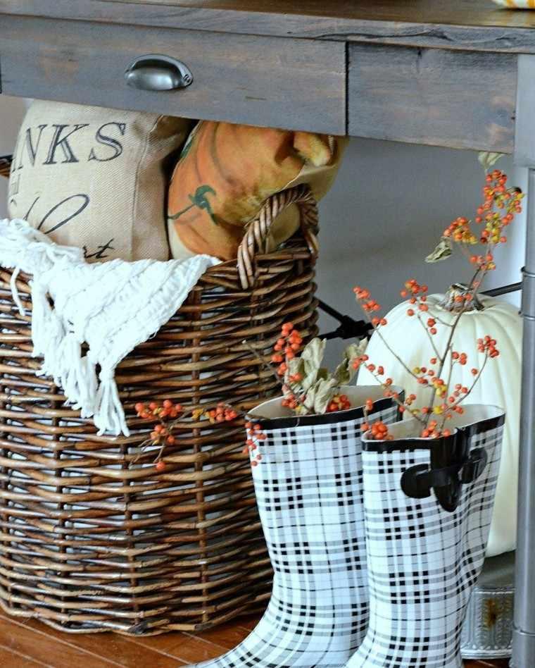 calabaza recetas decora casa otono cesto botas ideas
