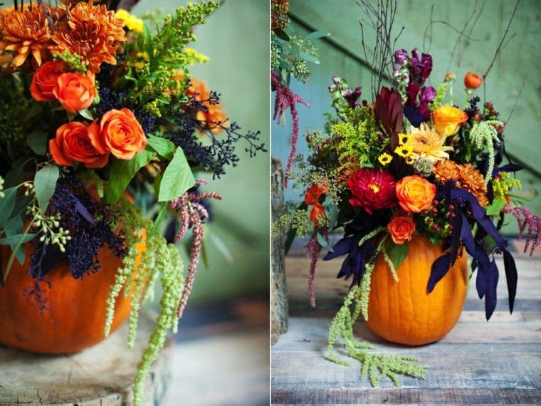 calabaza decorativa centro otoño