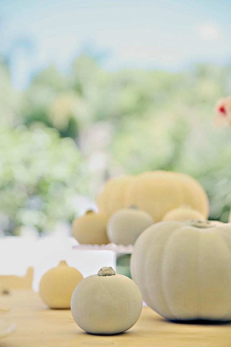 calabaza blancas colores pastel otoño