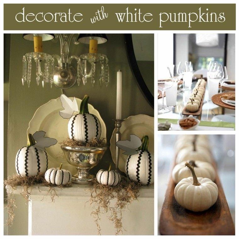 Calabazas blancas para tu decoraci n de oto o - Calabazas pintadas y decoradas ...