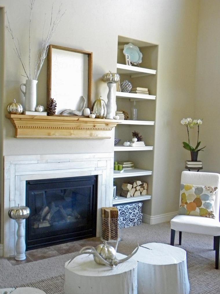 calabazas-decora-casa-otono-chimenea