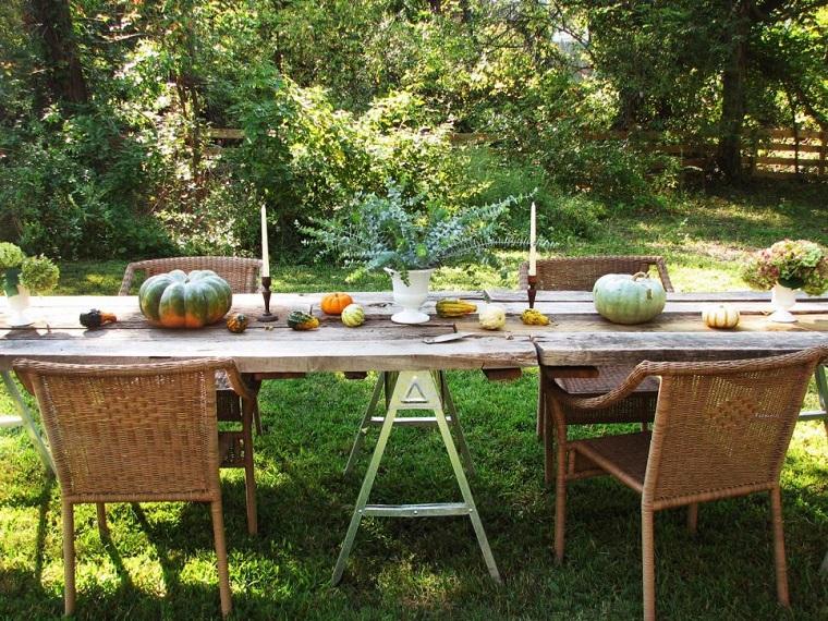 calabazas decora casa otono comida jardin ideas