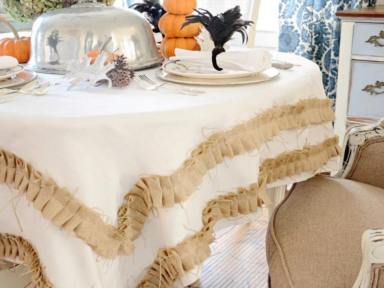 calabazas decora casa otono mesa preciosa ideas