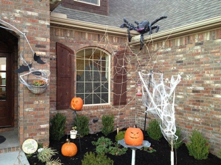 calabazas halloween decorativas araña