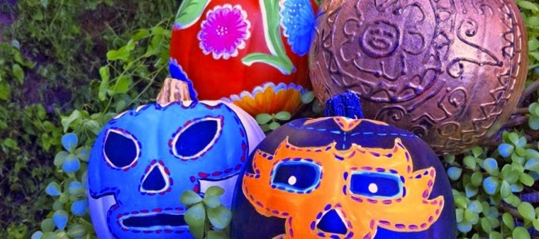 calabaza pintadas caras mejicanas