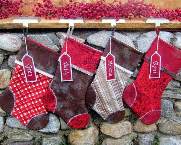 calcetines navidad motivos escoceses