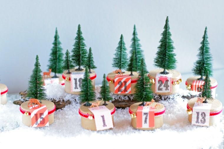 calendario de adviento arboles navidad cajas ideas