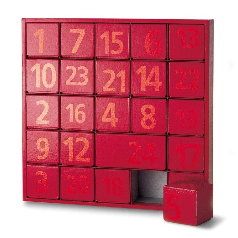 calendario de adviento caja roja precioso ideas