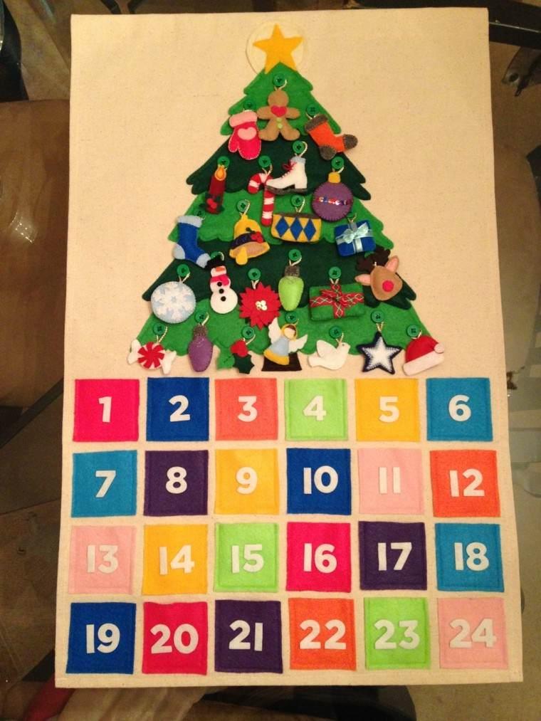 calendario de adviento color pino estrella