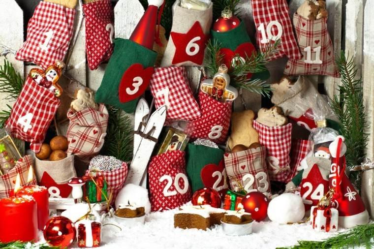 calendasio bolsas colores tipicos navidad ideas