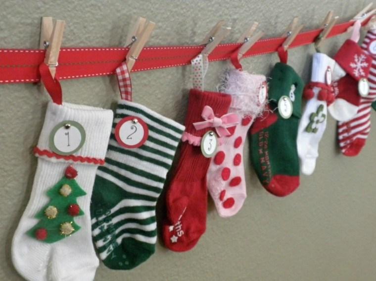 calendario de adviento navidad medias calcetines