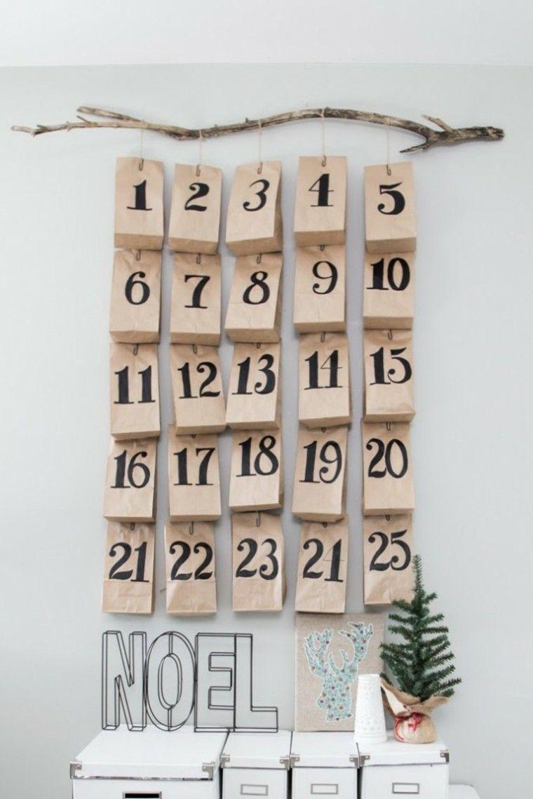 calendario de adviento papel estuches cajas