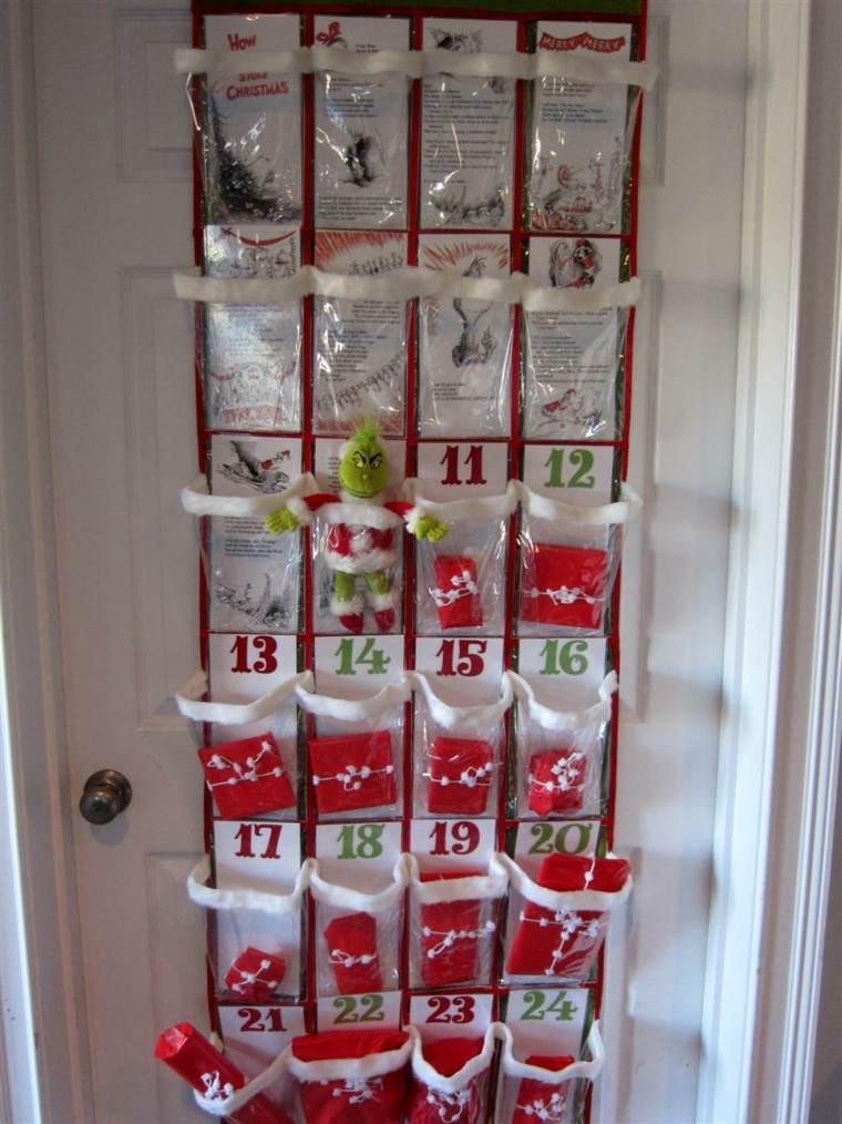 calendarios adviento percha puerta plastico