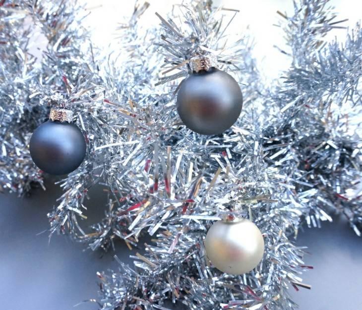 cama arbol navidad color plateado