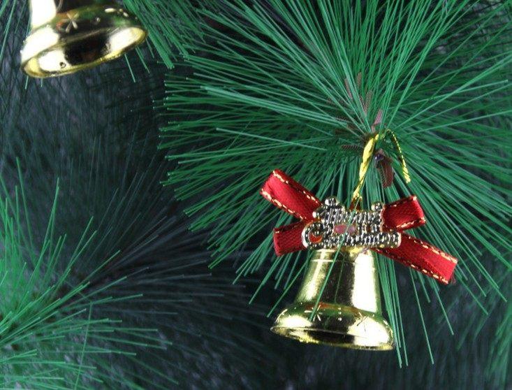 campanas de navidad lacito rojo