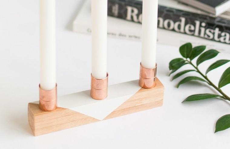 candelabro manualidades preciosas velas centro mesa ideas