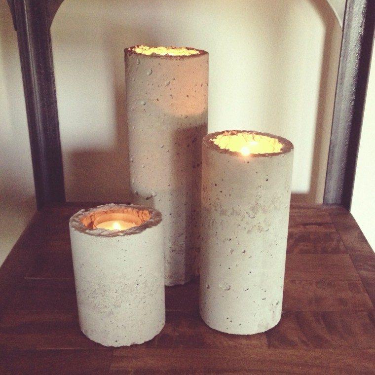 candelabro manualidades preciosas velas estilo industrial ideas