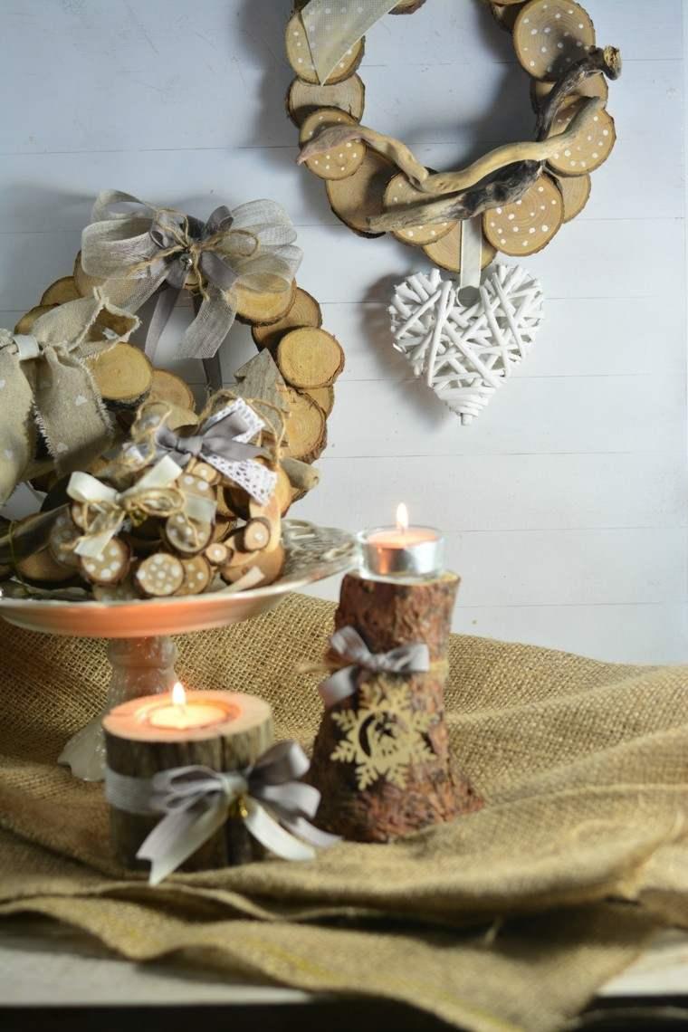 candelabro manualidades preciosas velas madera natural ideas