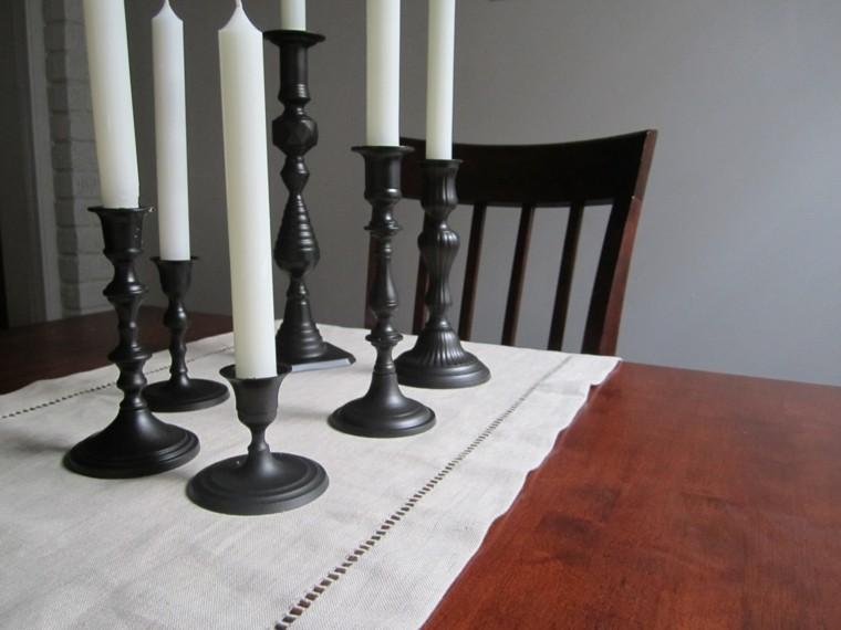 candelabro manualidades preciosas velas pintados negro ideas