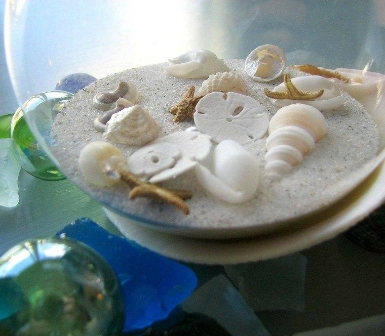 caracolas colgantes casa arena naturales
