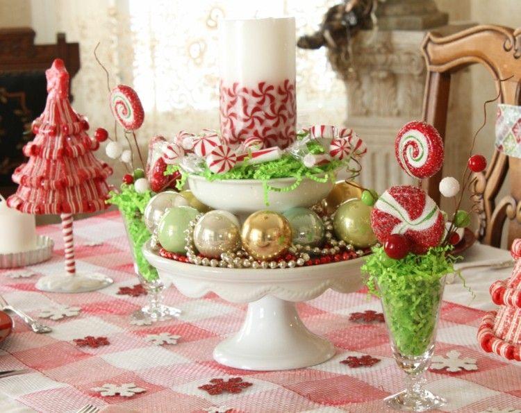 caramelos infantil decorado verde manteles