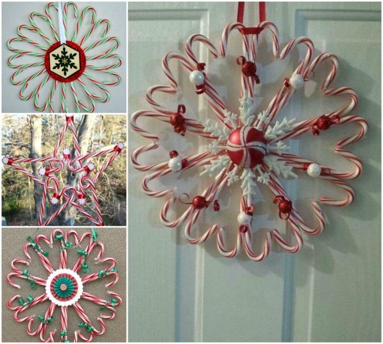 caramelos decoracion navidad coronas diy