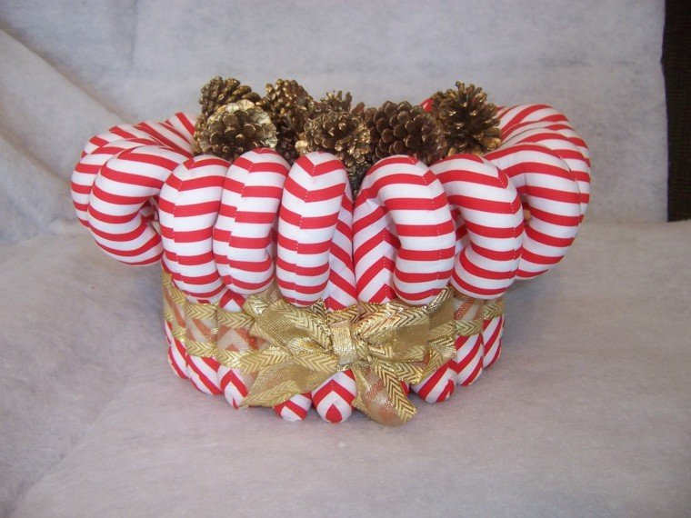 caramelos decoracion navidad telas dorado