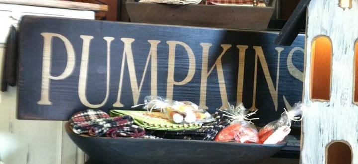 cartel decorativo calabaza otoño