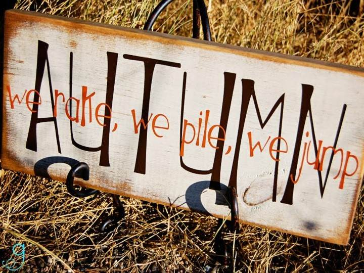 diseño cartel otoño retro