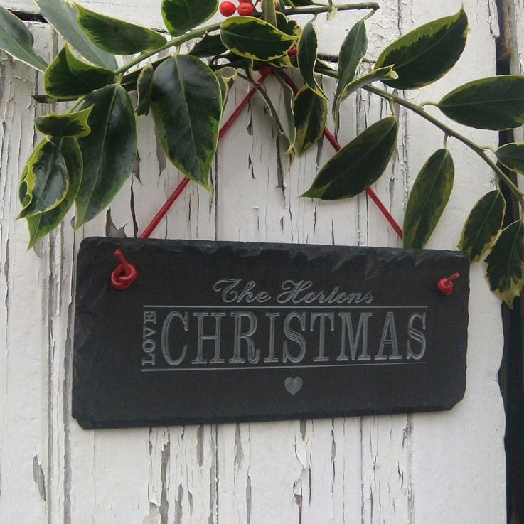 cartel navidad piedra negra colgante