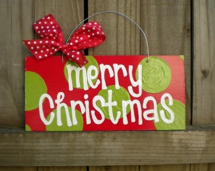 carteles navidad colores rojo verde
