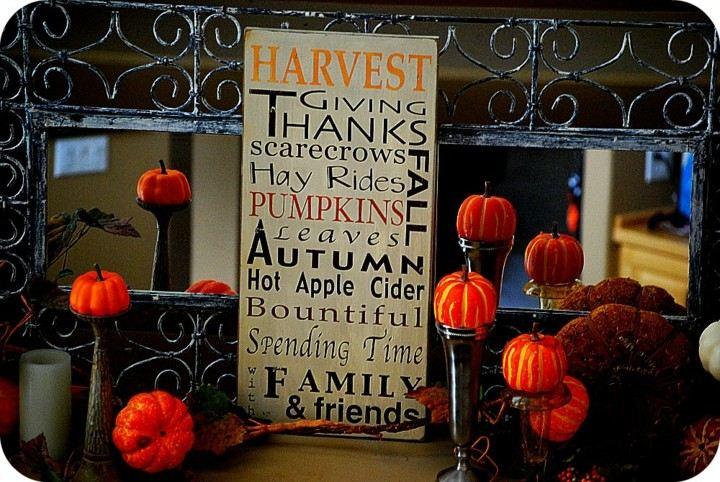 carteles otoño calabazas decorativas
