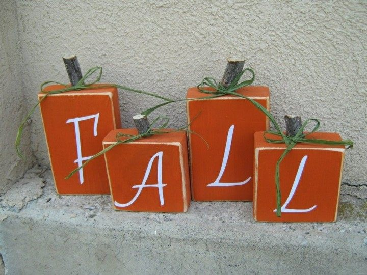carteles otoño diseño original naranja