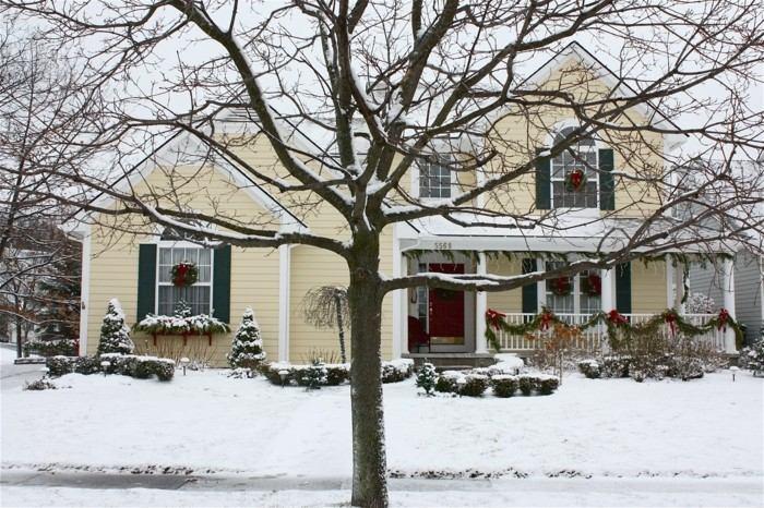 casa decorada navidad rustica