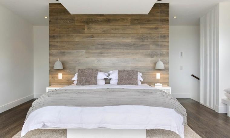 casas rusticas habitaciones cama diseño luces