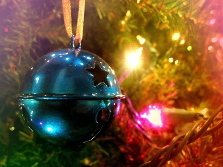 cascabel navidad color azul metal