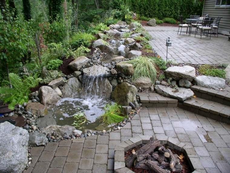 cascada jardin diseño moderno