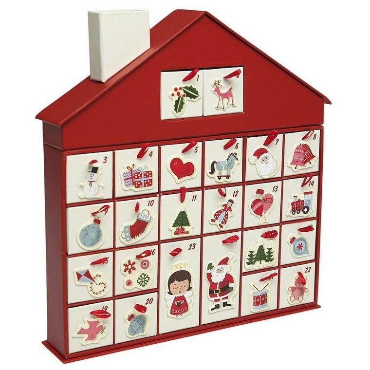 casita muñecas calendarios adviento madera