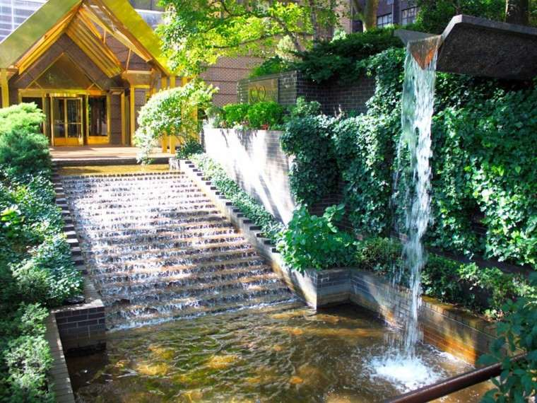 catarata jardin original diseño escaleras