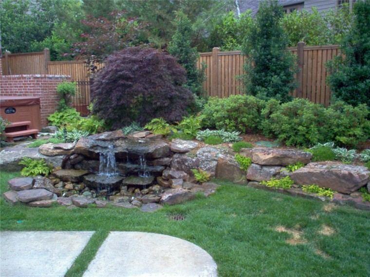 cataratas jardin fuente piedras deco