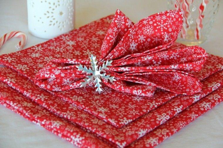 cena de navidad ideas servilletas detalles nieve