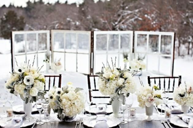 cena navidad nieve blanca