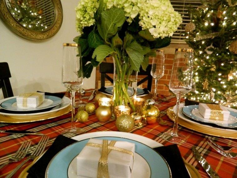 cena navidad recetas decora mesa bolas oro ideas