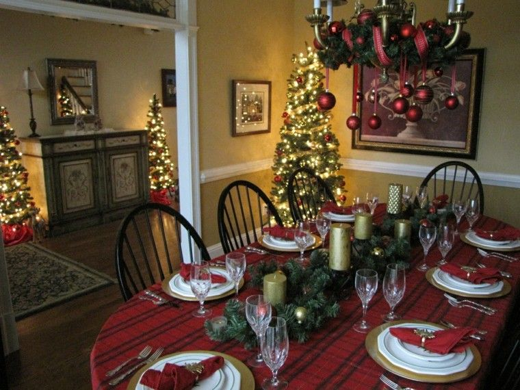 cena navidad recetas decora mesa lampara decorada ideas