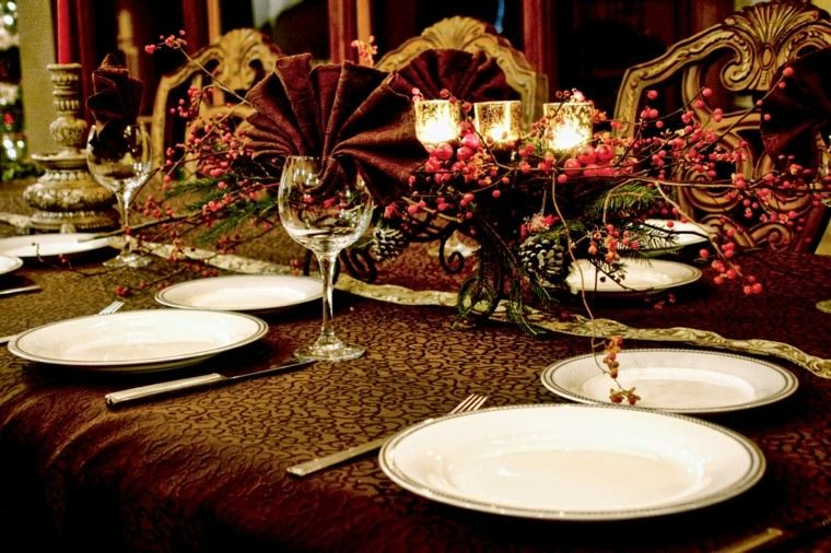 cena navidad recetas decora mesa retro ideas
