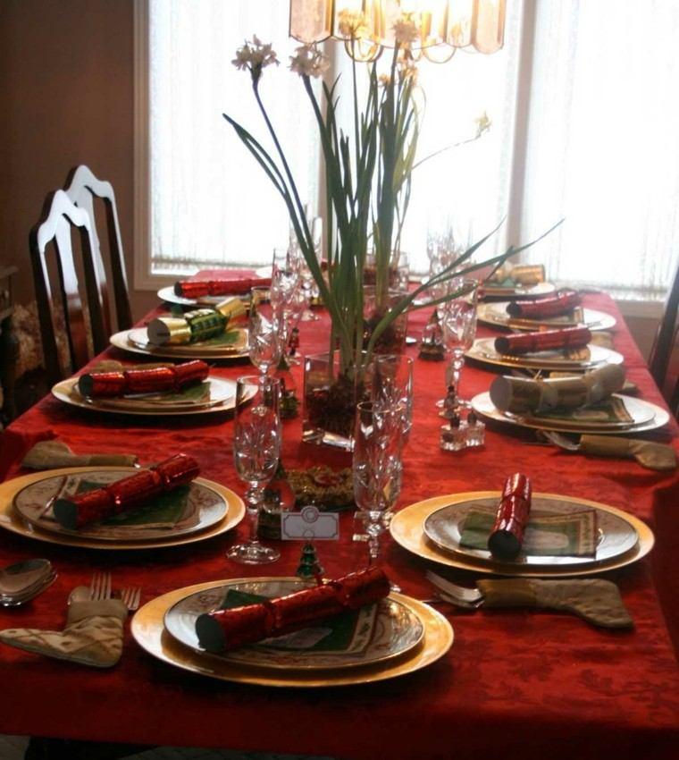 cenas de navidad recetas decorar mesa calcetines vajilla ideas