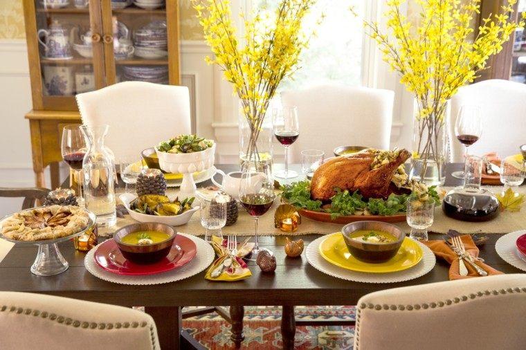 cenas de navidad recetas decorar mesa candelabros pinas ideas