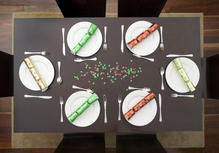 cenas de navidad recetas decorar mesa estilo minimalista ideas