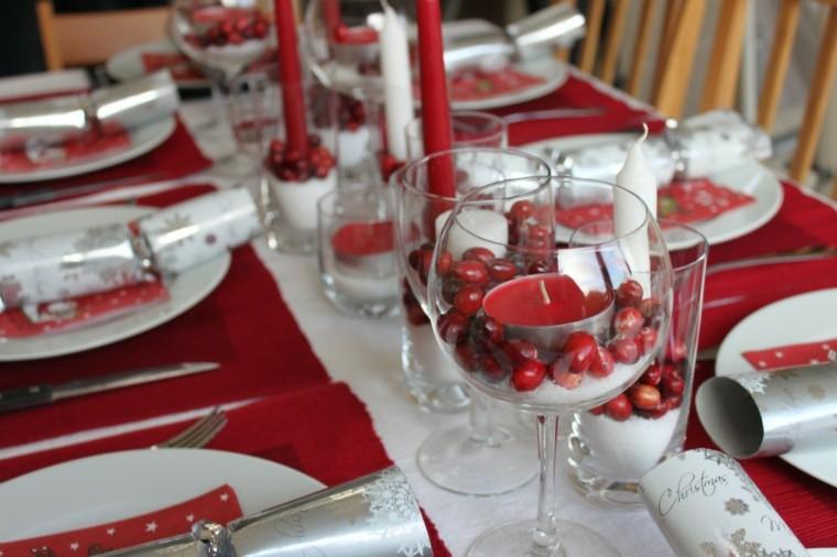 cenas de navidad recetas decorar mesa frutos mesa ideas