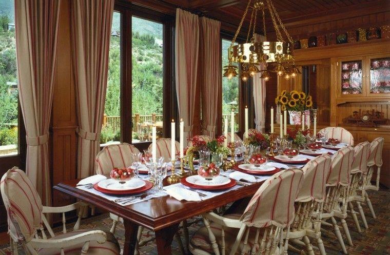 cenas de navidad recetas decorar mesa ramos fresas ideas